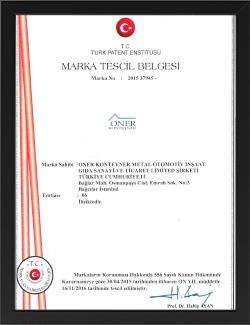 sertifika oner çöp konteyner