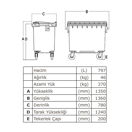ONE-1005-Plastik-Cop-Konteyner-770-Litre-TEKNIK